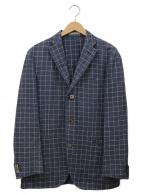 ()の古着「3Bリネンテーラードジャケット」|ネイビー×ホワイト