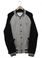 ()の古着「スウェットスタジャン」|グレー×ブラック
