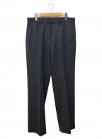 BEAMS(ビームス)の古着「ウールカルゼワイドスラックス」 ブラック