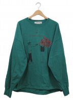 REMI RELIEF×Uncut Bound(レミレリーフ×アンカットバウンド)の古着「別注ロングtシャツ」 グリーン