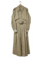 HER LIP TO(ハーリップトゥ)の古着「ロングコート」|ベージュ