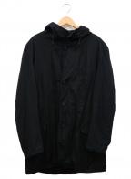 YOHJI YAMAMOTO()の古着「ショートオーバーモッズコート」|ブラック