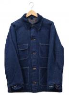 Wrangler(ラングラー)の古着「裏地ブランケットカバーオール」 インディゴ