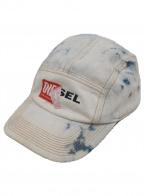 DIESEL(ディーゼル)の古着「はがれロゴキャップ」|ライトブルー×レッド