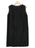 ()の古着「フラワーワンピース」|ブラック