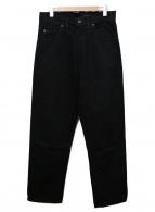 ()の古着「ペインターワークデニムパンツ」 ブラック