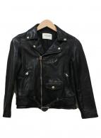 ()の古着「シュリンクレザーライダースジャケット」 ブラック