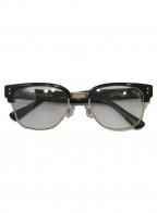 UNCROWD(アンクラウド)の古着「伊達眼鏡」 ブラック×ゴールド