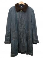sacai(サカイ)の古着「ボアライナー付ステンカラーコート」|インディゴ×ブラウン