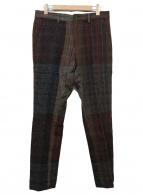 ()の古着「ヘリンボーンウールパンツ」 ブラウン×ネイビー