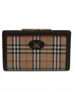 Burberry's(バーバリーズ)の古着「がま口財布」|ブラウン×ベージュ