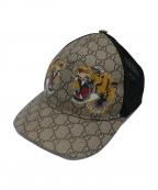 GUCCI(グッチ)の古着「タイガープリントキャップ」|ベージュ