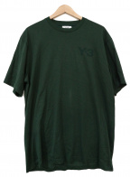 Y-3(ワイスリー)の古着「ロゴプリントTシャツ」|グリーン
