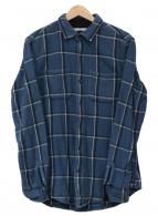 ()の古着「ヘビーコットンチェックネルシャツ」|ブルー×ブラック