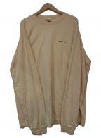 sporty&rich(スポーティアンドリッチ)の古着「FUN LOGO LS/Tシャツ」|ベージュ