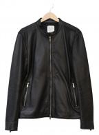 UNITED TOKYO(ユナイテッドトウキョウ)の古着「シングルライダースジャケット」 ブラック