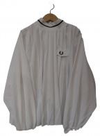 FRED PERRY(フレッドペリー)の古着「モックネックプリーツカットソー」|ホワイト