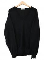 JOHN SMEDLEY(ジョンスメドレー)の古着「Vネックニット」|ブラック