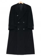 BOSS HUGO BOSS(ボス ヒューゴボス)の古着「カシミヤダブルチェスターコート」|ブラック