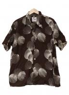 ()の古着「アロハシャツ」|ブラウン×ホワイト
