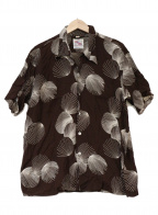 KAHANAMOKU(カハナモク)の古着「アロハシャツ」|ブラウン×ホワイト