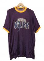 Hysteric Glamour(ヒステリックグラマー)の古着「KILLERプリントTシャツ」|パープル×イエロー