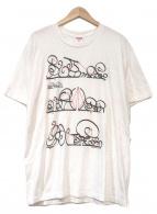 ()の古着「システムTシャツ」|ホワイト×レッド