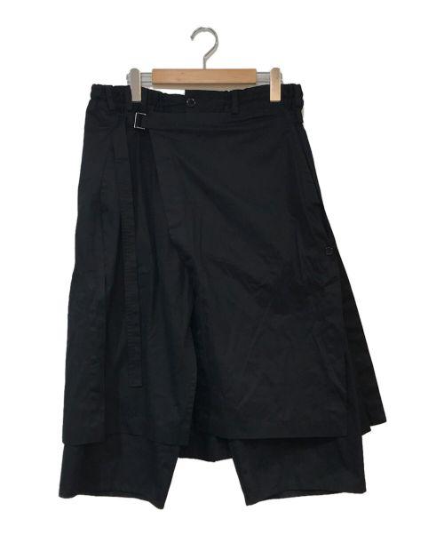 GROUND Y(グラウンドワイ)GROUND Y (グラウンドワイ) WRAP PANT ブラック サイズ:3の古着・服飾アイテム