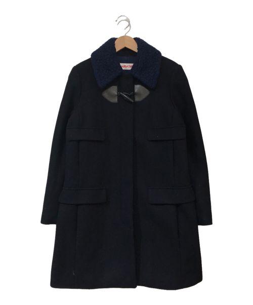 SEE BY CHLOE(シーバイクロエ)SEE BY CHLOE (シーバイクロエ) ラムウールデザインダッフルコート ネイビー サイズ:36の古着・服飾アイテム