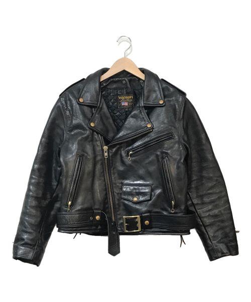 VANSON(バンソン)VANSON (バンソン) C-2レザーライダースジャケット ブラック サイズ:42の古着・服飾アイテム