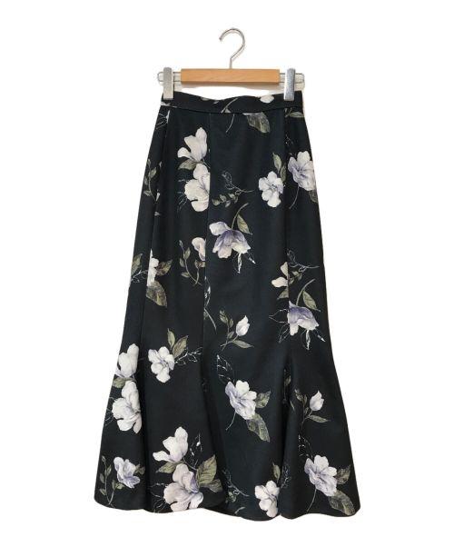 rienda(リエンダ)rienda (リエンダ) ヴィンテージフラワーマーメイドスカート ダークグリーン サイズ:Sの古着・服飾アイテム