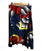 KENZO(ケンゾー)の古着「ラップシルクスカート」|マルチカラー