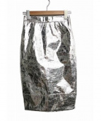 Ameri VINTAGE(アメリビンテージ)の古着「タイトスカート」|シルバー