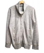 Francis T MOR.K.S(フランシストモークス)の古着「スワロ付きニットジャケット」|アイボリー
