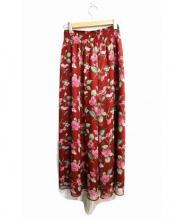 DRWCYS(ドロシーズ)の古着「花柄シフォンスカート」 レッド