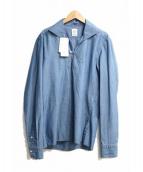 giangi NAPOLI(ジャンジ)の古着「スキッパーシャツ」|スカイブルー