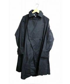 ISSEY MIYAKE(イッセイ ミヤケ)の古着「トレンチコート」|ブラック