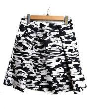 KENZO(ケンゾー)の古着「ミディスカート」|ブラック×ホワイト