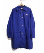 DANTON(ダントン)の古着「ダブルクロスコート」|ブルー