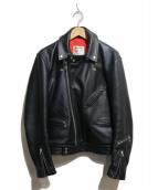 Lewis Leathers(ルイスレザー)の古着「レザーライダースジャケット」 ブラック