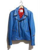 Lewis Leathers(ルイスレザー)の古着「レザーライダースジャケット」 ブルー