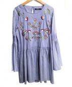 Desigual(デシグアル)の古着「ブラウスワンピース」|ブルー