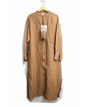 GARAGE OF GOOD CLOTHING(ガレージオブグッドクロージング)の古着「リネンシャツワンピース」|ブラウン