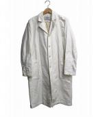 YAECA(ヤエカ)の古着「リネン混ショップコート」|ホワイト