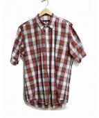 COMME des GARCONS HOMME PLUS(コムデギャルソンオムプリュス)の古着「半袖シャツ」|レッド×グリーン