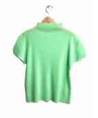 PLEATS PLEASE(プリーツ プリーズ)の古着「プリーツブラウス」 ライトグリーン