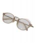 金子眼鏡(カネコメガネ)の古着「伊達眼鏡」|ピンク