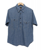 BIG YANK(ビッグヤンク)の古着「半袖プルオーバーシャンブレーシャツ」
