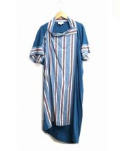 V.W. RED LABEL(ヴィヴィアン ウエストウッド レッドレーベル)の古着「デラヴェスラブ半袖ワンピース」|ブルー