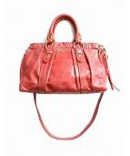 MIUMIU(ミュウミュウ)の古着「2WAYショルダーバッグ」|ピンク